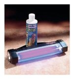 product image of Stink-finder pet urine stain dectector and bottle of Odor Remover