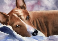 basenji dogs art print