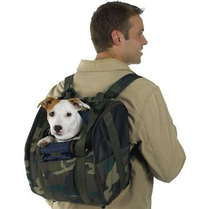 small dog carriers - Casual Canine Nylon BackPack Pet Carrier, Green camo