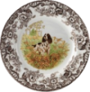 english spring spaniel decorative spode plate