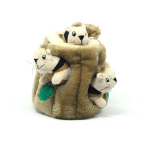 toy pomeranian hide a squirrel toy