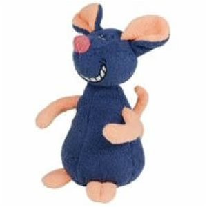 toy pomeranian, plush mouse toy