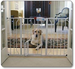 Carlson Extra-Wide Walk-Thru Pet Gate with Pet Door