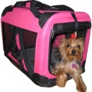 Pink Pet House Soft Crate Dog Carrier