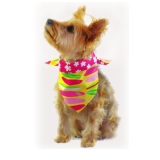 Pink Surfboard Bandana for Dogs