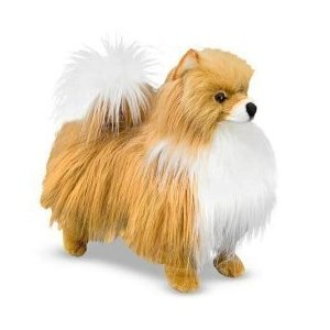 toy pomeranian, melissa and doug plush pomeranian dog toy