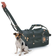 small dog carrier on wheels, by sherpa