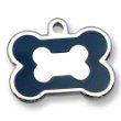 image of stainless steel bone custom engraved id tag for pets