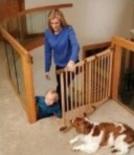 wood pet gate for stairways