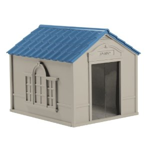 image of suncast colonial style doghouse