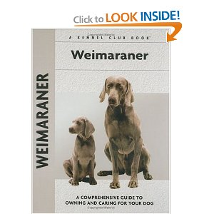 weimaraner dogs guide book