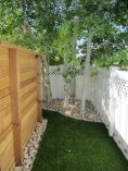 back yard fenced area for dog