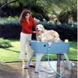 plastic booster dog bath