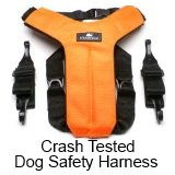 dog safety harness - crash tested, buy at Amazon