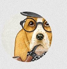 bassett hound as sherlock holmes art print