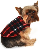 dog pullover in red blanket plaid