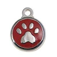 paw print dog ID tag