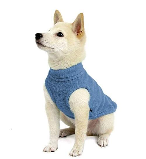 stretch fleece dog vest