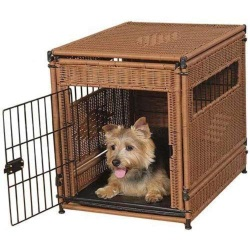 Herzhers Small Pet Wicker Crate