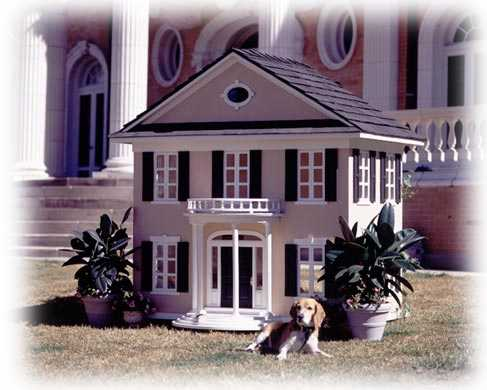 colonial style custom dog house