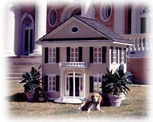 colonial style custom dog house
