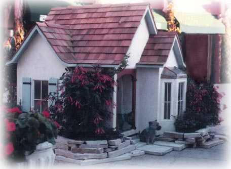 custom dog house - cottage style