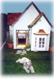 french chateau style custom dog house