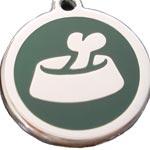 image of bowl and bone dog id tag