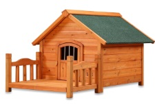 porch style dog house design