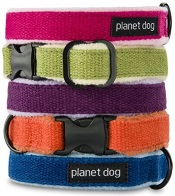 hemp dog collars by planet dog