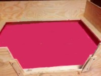 image of wood whelping box for dog