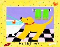 bath time dog art print