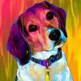 beagle information, beagle art print