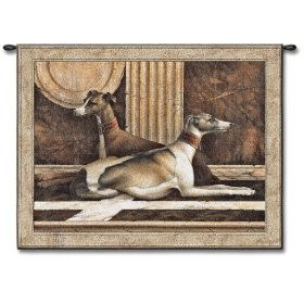 greyhound dogs fine aret wall tapestry