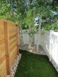 back yard fenced area for dog