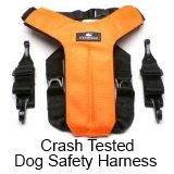 dog safety harness - crash tested, buy at Amazon