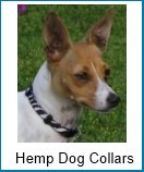 Natural eco-friendly hemp dog collars