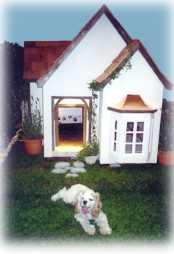 french chateau style custom dog house