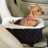 Faux fur small dog car carrier