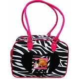 Zebra Stripe Nylon Pet Carrier for small dogs - car carrier