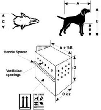 dog crate measuring guide