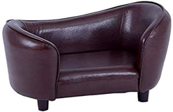 Dog Sofa Bed in faux leather modern style