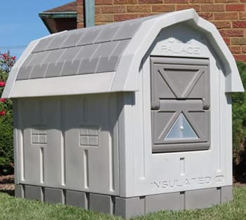 insulated dog house in gray color