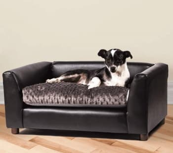handmade leatherette sofa bed for dog