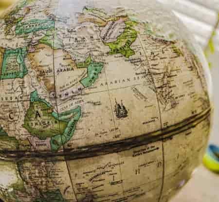 old world geographic globe