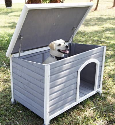 cedar wood dog house