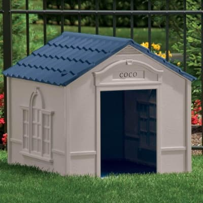 outdoor waterproof dog house in resin