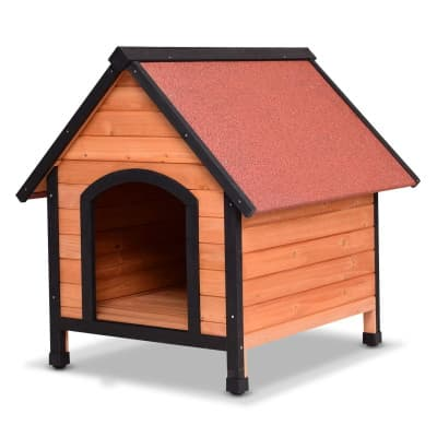 a-frame wood dog house