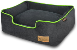 eco-friendly luxurious dog lounge in several fabric options