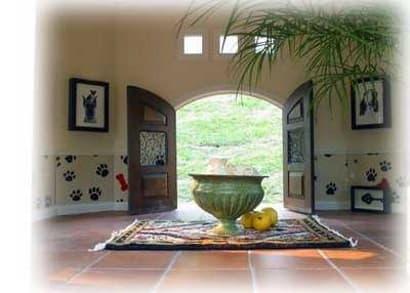 Custom Dog House Tiled Entry View